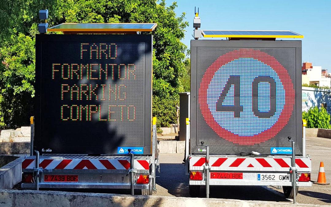 El Consell de Mallorca instala la primera estación móvil de control de aforo de vehículos de Datakorum en cala Deià